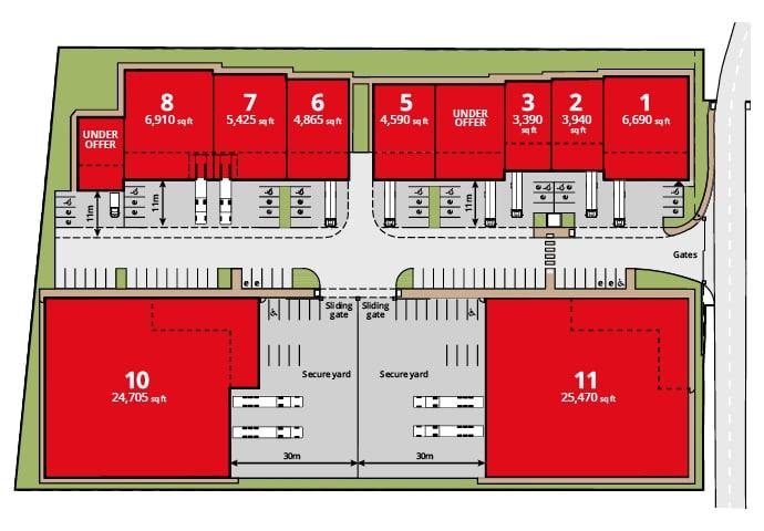 Site layout plan