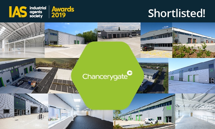 Chancerygate shortlisted for four industrial agents society awards including developer of the year