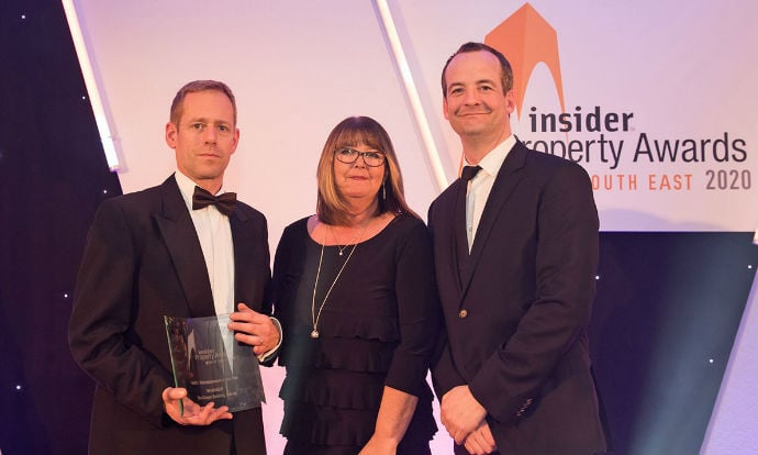 Chancerygate wins refit/refurbishment of the year award for The Klinger Building at the Insider South East Property Awards