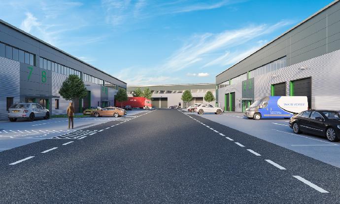 Work starts to deliver £20m, 100,000 sq ft industrial scheme at Tonbridge Trade Park, Kent